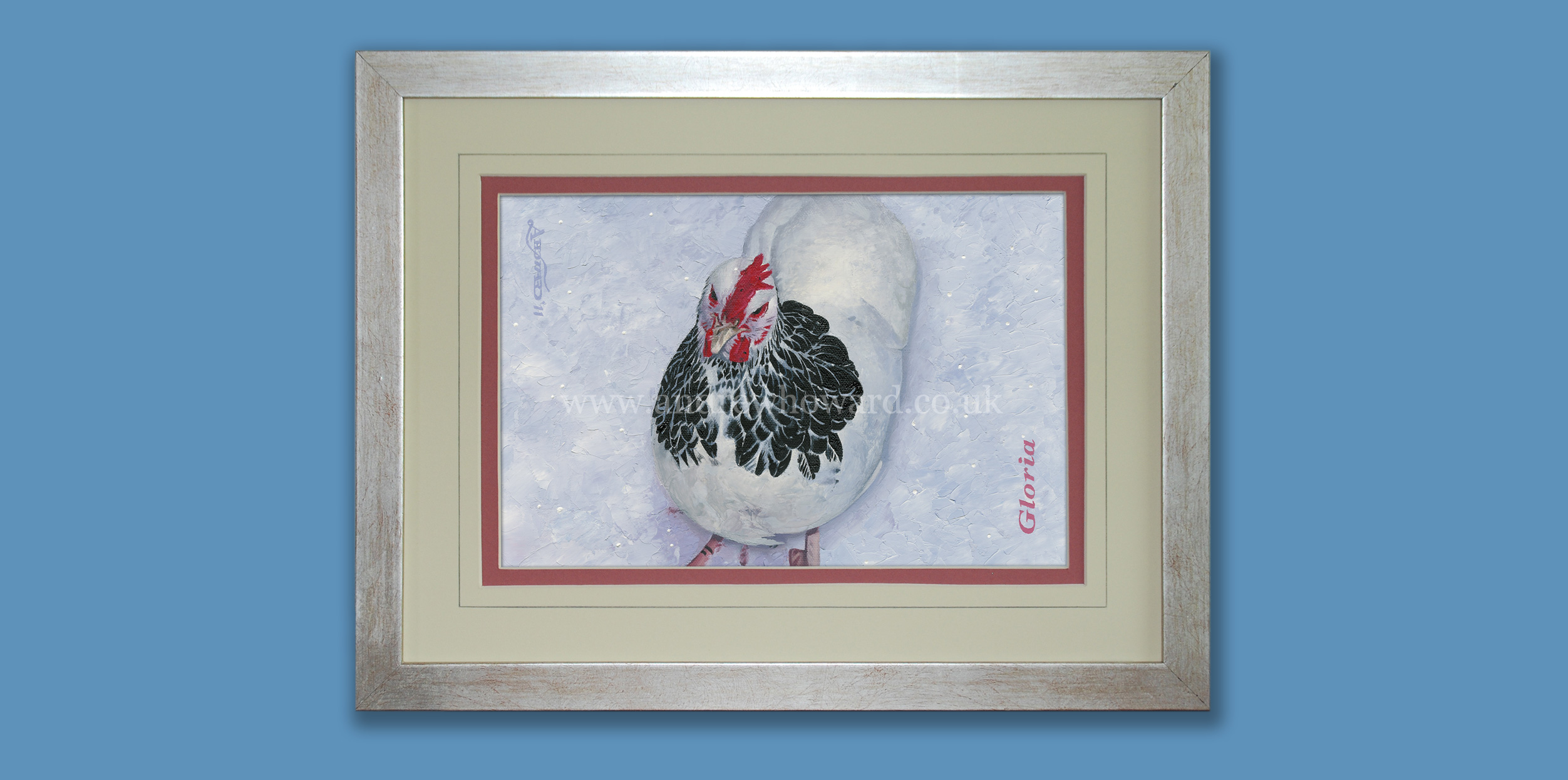 Andrew Howard Art - Chicken oil painting