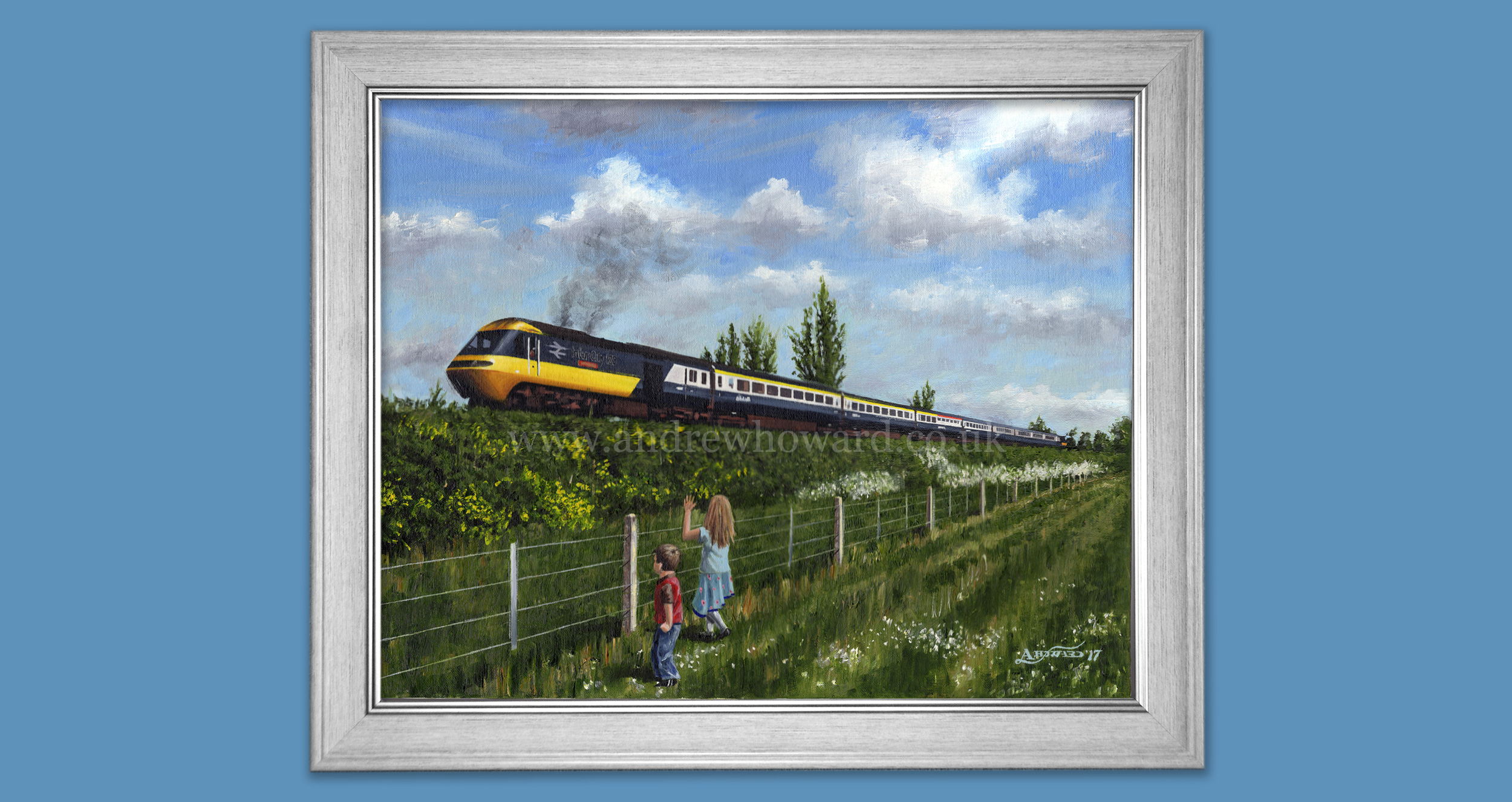 Andrew Howard Art - Inter-City 125 oil painting